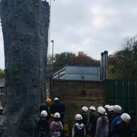 Climbing wall north west England