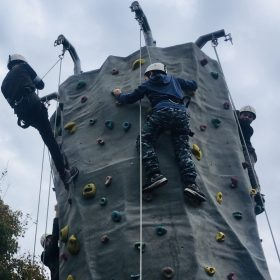 Mobile climbing wall for hire